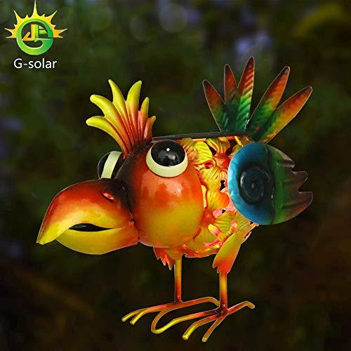 G-Solar Solar Powered LED Light Animal Outdoor ,Garden, Patio,Lawn, metal Flamingo Decorative gifts by G-Solar