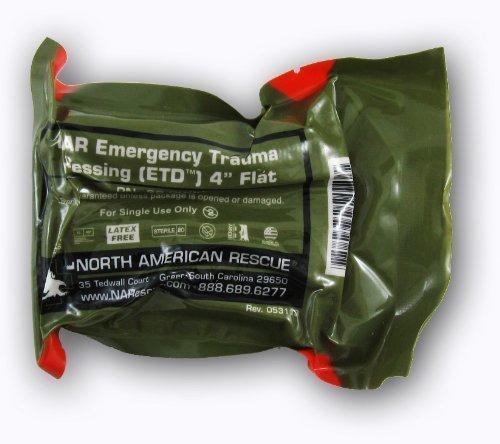 (FLAT FOLD Emergency Trauma Dressing 4