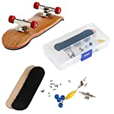 Lulujan DIY Wooden Finger Skateboards Set 3.94' Mini Deck Fingerboard Skateboard Box Storage Organizer Sport Puzzle Games Maple Wood Kids Toy Gift for Boring Adults Kids (1 Suit) (Red)