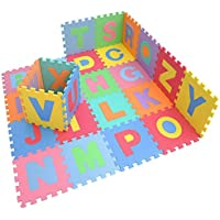 """SILLYME Kids Puzzle Mat Alphabet, 26 Interlocking Tiles - (12"""" by 12""""), Exercise Mat"""