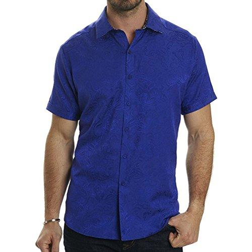Robert Graham Men's Gypsy Short Sleeve Classic Fit Sport Shirt, Purple, Small by Robert Graham
