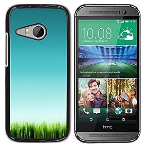 Be Good Phone Accessory // Dura Cáscara cubierta Protectora Caso Carcasa Funda de Protección para HTC ONE MINI 2 / M8 MINI // Grass Green Nature Clean Pure