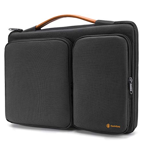 tomtoc 360 Protective Laptop Briefcase for 15 Inch New MacBook Pro with Touch Bar Late 2016-2019 (A1990 A1707), ThinkPad X1 Yoga (1-4th Gen), 14 Inch HP Dell Acer Chromebook (Hp Slim Ultrabook Thin And Light Backpack)