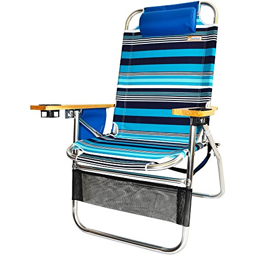 Copa Big Papa 17 inch Hi-Seat Beach Chair - North Shore Stripe