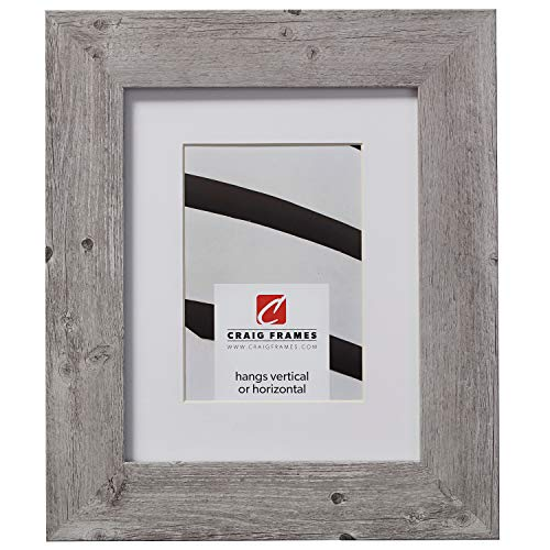 Craig Frames American Barn, 22 x 28 Inch Faux Barnwood Picture Frame Matted to Display an 18 x 24 Inch Photo, Light - 22 Light 28 X