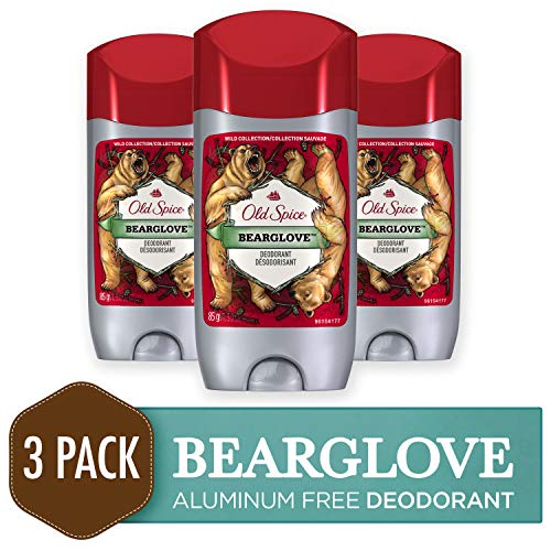 Old Spice Deodorant for Men, Bearglove Scent, Wild Collection, 3 oz, 3 Count