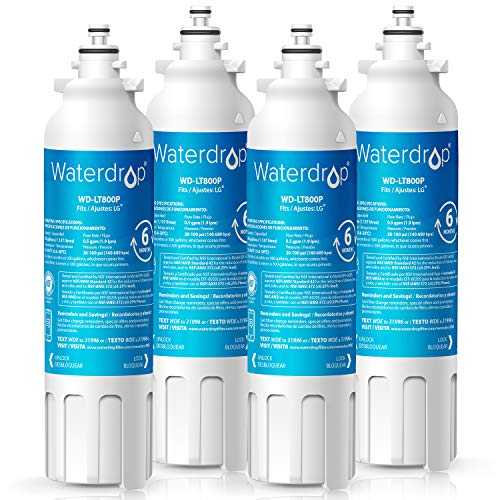 1 Refrigerator Water Filter, Compatible with LG LT800P, Kenmore 9490, LSXS26326S, LMXC23746S, 46-9490, 469490, ADQ73613402, LMXC23746D, LSXS26366S, Pack of 4 ()