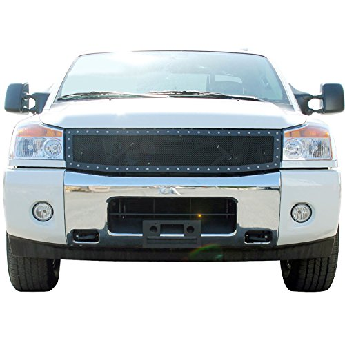 E-Autogrilles Rivet Stainless Steel Wire Mesh Grille for 04-07 Nissan Titan