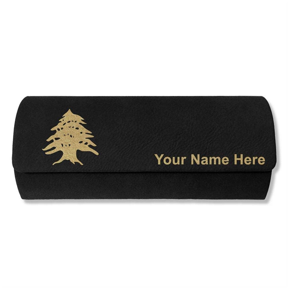 Flag of Lebanon Sunglass Case Personalized Engraving Included