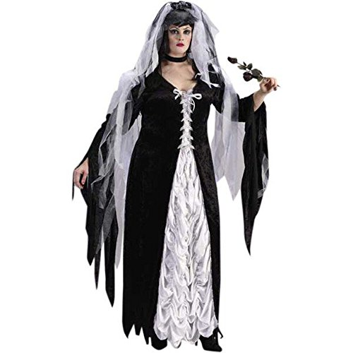 Coffin Bride Halloween Costumes (Plus Size Bride Of Darkness Costume Size: Women's Plus 16-20)