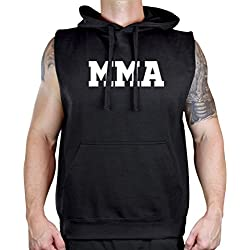 Men's Old School MMA V441 Sleeveless Vest Hoodie X-Large Black