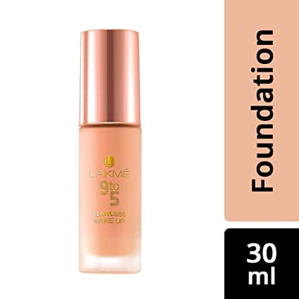 Lakme 9 To 5 Flawless Makeup Foundation, Pearl, 30Ml
