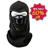 HIG Balaclava Winter Ski Mask - Cold Weather Face Mask Windproof Warm for Skiing & Snowboarding & Cycling (Black)