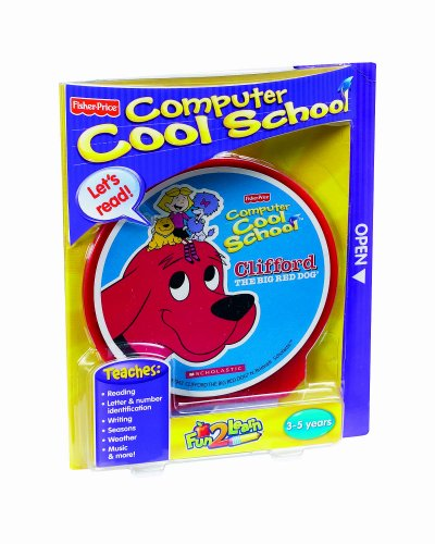 Fisher-Price Fun-2-Learn Computer Cool School Clifford - 2 Computer Learn Fun
