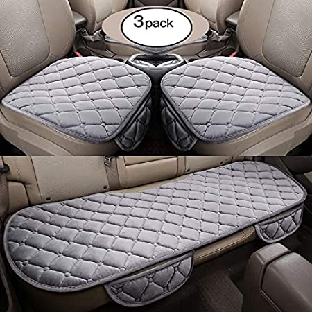 HCMAX Soft Car seat Cover Cushion Pad Mat Protector for Auto Supplies for Sedan Hatchback SUV - 2 Pack Front Seat Cover