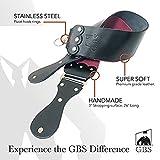 GBS Handmade Premium Leather Razor Strop Black and