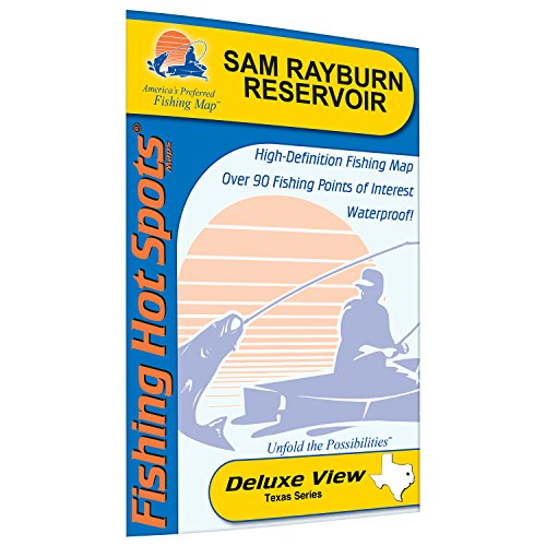 Reservoir Fishing Map - Sam Rayburn Reservoir Fishing Map