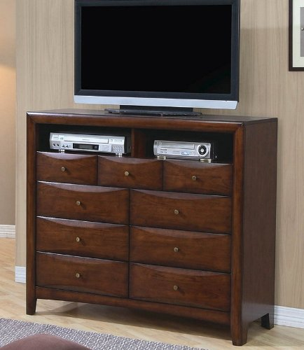 Coaster Home Furnishings 200648 Casual Contemporary Media Chest, Walnut