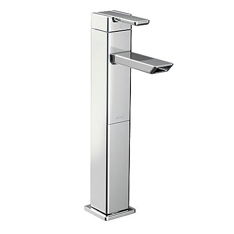 Moen S6711 90-Degree One-Handle High Arc Bathroom Faucet, Chrome ...