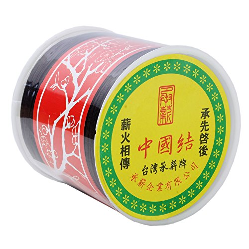 Jewelry Its Hemp Knot - BEADNOVA 0.8mm Brown Chinese Macrame Cord Thread Nylon Beading Cord 100m