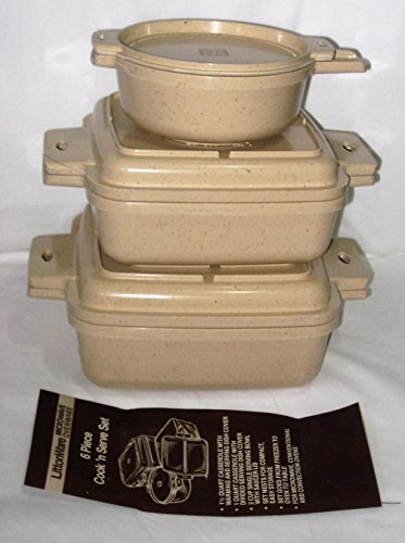 Vintage Littonware Microwave Ovenware 6 Piece Cook 'N Serve Set