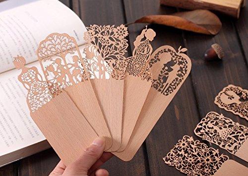 11 opinioni per Segnalibro in materiale legno sottile elegante taglia con laser Ideale regalo
