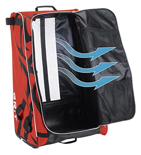 Grit Inc HTFX Hockey Tower 33'' Wheeled Equipment Bag Red HTFX033-CH (Chicago) … by Grit (Image #4)