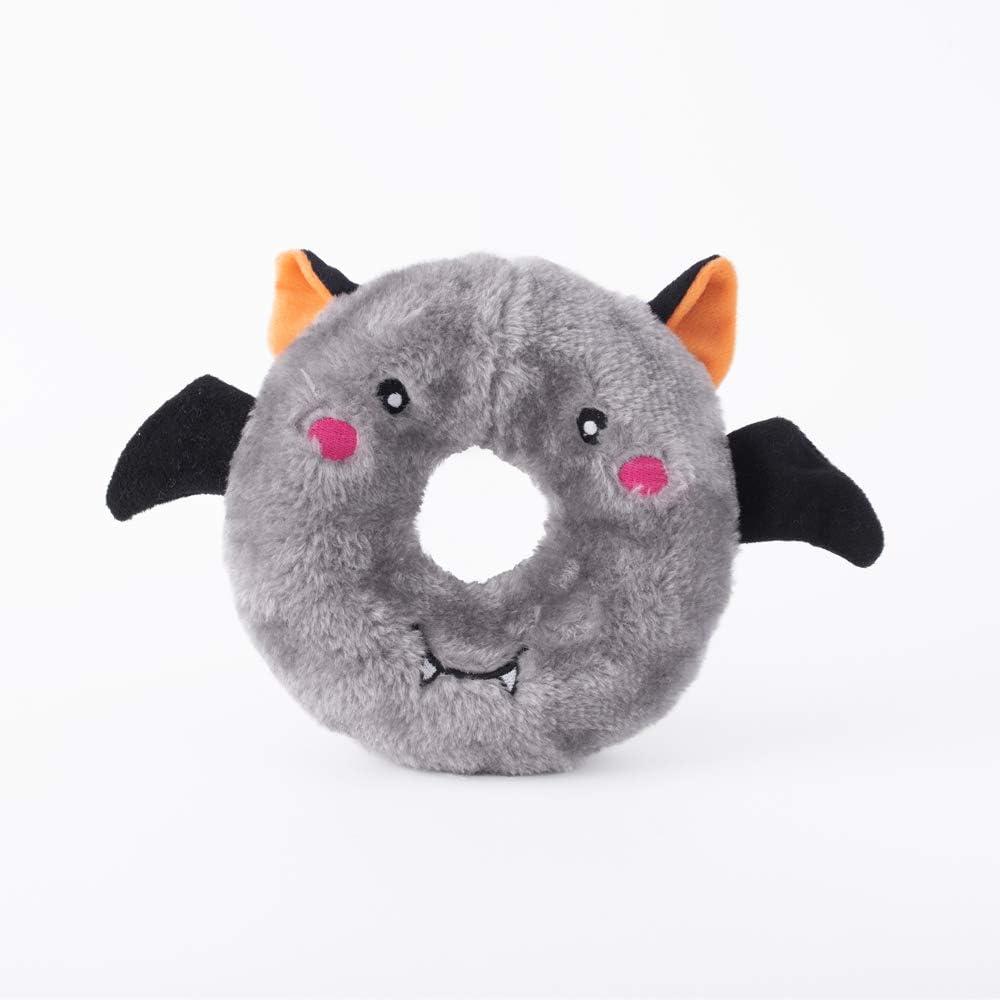 Amazon.com : ZippyPaws - Halloween Donutz Buddies Squeaky Dog Toys - Bat :  Pet Supplies