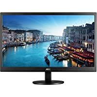 AOC 24 Full HD 1080p Slim LED LCD Monitor Widescreen Dual HDMI/VGA - E2470SWHE (Certified Refurbished)