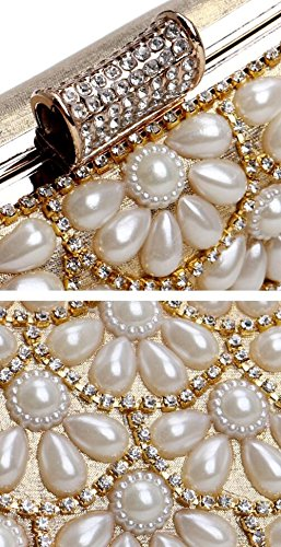 Mariage Clubs À Pochette Prom De Enveloppe Perle Sac Nuptiale À Main Glitter Soirée Dames Bandoulière Antique Sac Gold À Sac Diamante Cadeau Main Femmes Party pxw4U1x