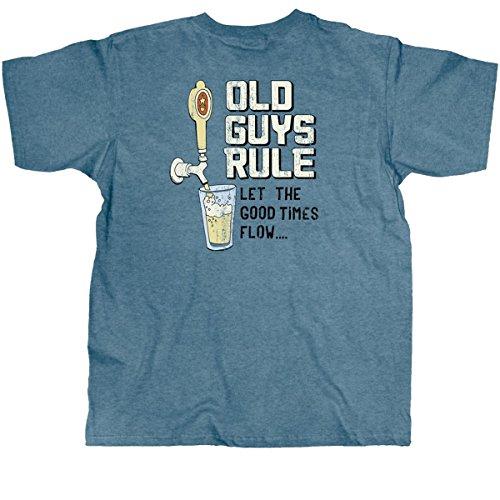 Old Guys Rule Good Times Flow Mens T-Shirt-xxxl - Aged Ale Wine