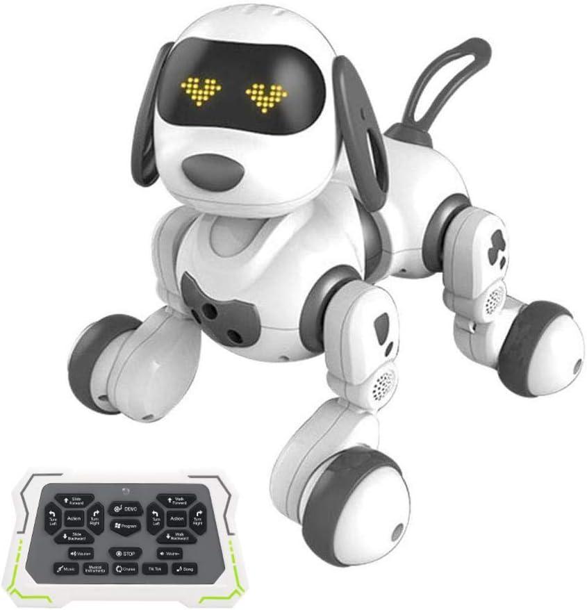 Juguetecnic Perro Robot Teledirigido Dexterity ¡Camina, Canta y Baila! Robot Programable Radiocontrol con Mando y Ojos LED | Macota Interactiva Robótica Juguete Educativo para Niños
