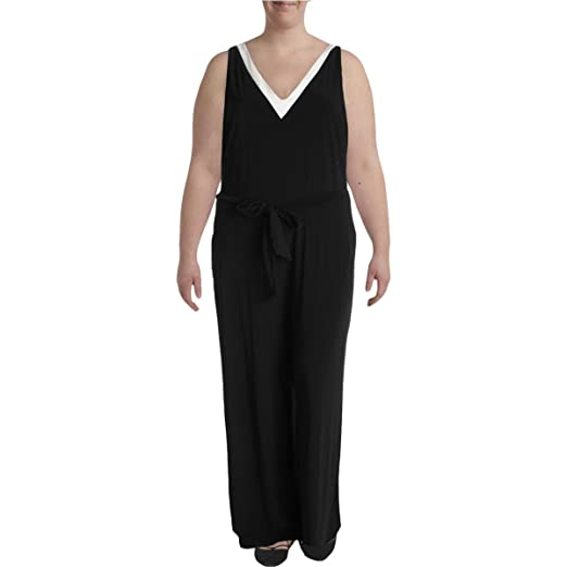 24c803fcb12 Lauren Ralph Lauren Women s Plus Size V-Neck Jersey Jumpsuit