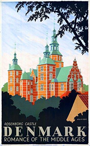 MAGNET Denmark Danish Rosenborg Castle Europe Vintage Travel Art Advertisement Magnet