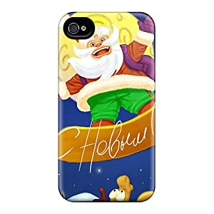 Waterdrop Snap-on Funny Santa Claus Christmas Case For Iphone 4/4s