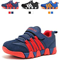 JIAWA Boys Sneakers Casual Strap Lightweight Sports Running Shoes for Kids(Toddler/Little Kid/Big Kid)