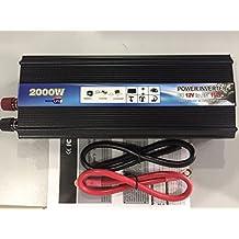 iMeshbean 2000W Car Power Inverter DC 12V /24V To AC 110V / 220V Modified Sine Wave Converter 4000W Pear Power Power Supply USA (DC 12V To AC 110V)