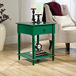 "Sauder 420131 Side Table, 18.898"" L X 18.898"" W X 23.622"" H, Emerald Green"