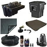 15 x 15 Small PVC Pond Kit 3200 GPH Pump Anjon 16 Inch Waterfall Skimmer PVCSA2