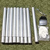"""S&K Manufacturing Round Pole for Martin Houses, 1.9"""" W X 13.5"""" H"""