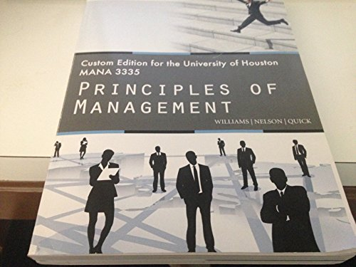 'Custom Principles of Management - University of Houston MGMT8