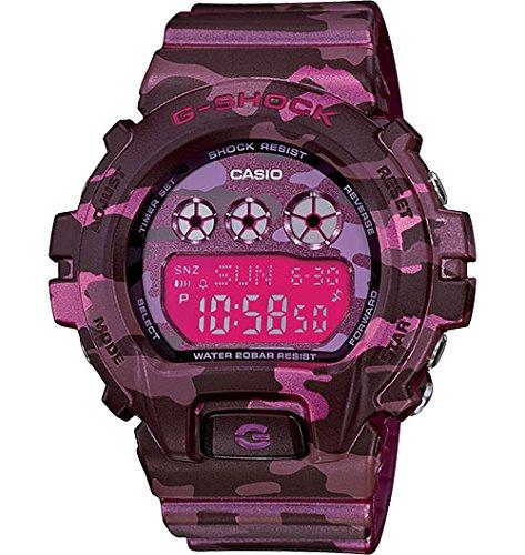 Casio G-Shock Digital Pink Camouflage Ladies Watch GMDS6900CF-4CR