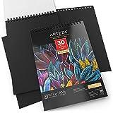 "Arteza 9X12"" Black Sketch Pad, Pack of 2, 60"