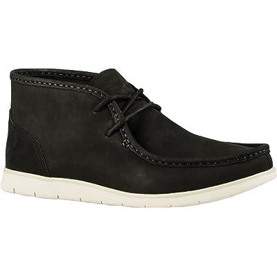 UGG Men's Hendrickson Chukka Boot,Black Leather,US 10.5 M
