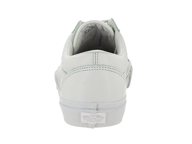 Scarpe Donna Vans Old Skool Leather Mono Ice Flow (Eu 38 Us 7.5 , Bianco)
