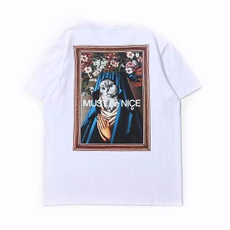 Camisetas de los Hombres Divertidos-Gato Divertido en la Pintura ...