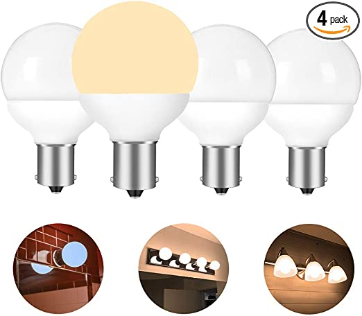 Amazon Com 12 Volt Rv Vanity Led Light Bulbs Ba15s 1383 1139 1156 1141 20 99 9019 Replacement For 5th Wheel Camper Trailer Motorhomes Marine Boat Bathroom 30 40w Equivalent Soft White 3000k Pack Of 4 Automotive
