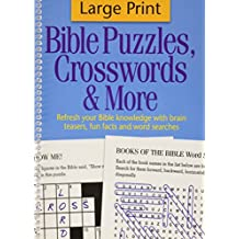 Large Print Bible Puzzles, Crosswords & More: Refresh Your Bible Knowledge with Brain Teasers, Fun Facts and Word Searches