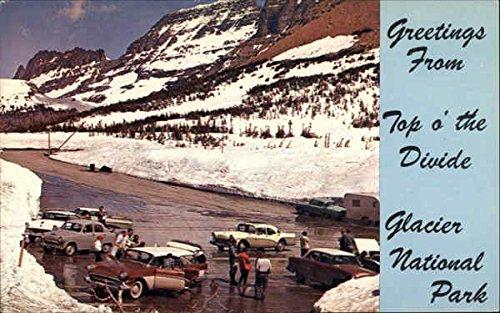 Logan Pass Summit Glacier National Park, Montana Original Vintage Postcard ()