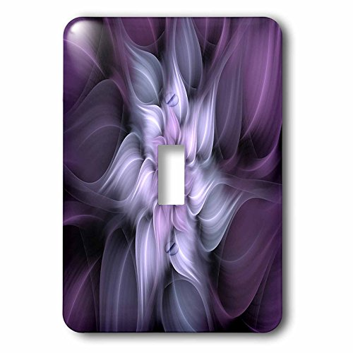 3dRose lsp_273403_1 Image of Fractal Abstract Blur Purple Flower Toggle Switch, Multicolor